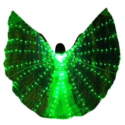 ren Set,Haar Zubehör Styling Set,Hair Styling Accessories Kit Set,LED Bauchtanz Angel Isis Wings Schmetterlingsflügel mit Teleskopstäbchen ()