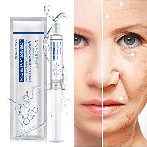 Feuchtigkeitscreme SOMESUN Seide Eiweiß Hyaluronsäure Acid Flüssigkeit Hautpflege Feuchtigkeitsspendend Anti Falten Kollagen 5ML