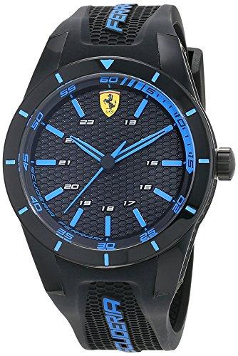 Ferrari 0830247 - Reloj analógico de pulsera para hombre (cuarzo, correa de silicona)