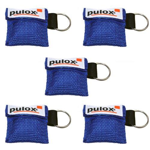 """5x PULOX\""""RESPI-Key\"""" Schlüsselanhänger Beatmungsmaske in blau"""