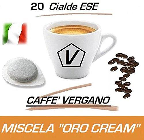 """Dosis ESE, Monodosis ESE de Caffè Vergano Mezcla """"Oro Cream"""" Línea Espresso - El Verdadero Caffé Italiano (Kit Degustación 20 Dosis)"""