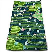 WBinHua Toallas, Toallas de Playa, Hand Towels, The Cactus Garden of Earthly Delights