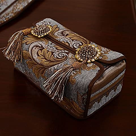 Tissue box cover the table/ embossed napkin/Car tissue box/ hanging spike box-A 24x12cm(9x5inch)