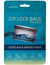 Noaks Bag | ZIP Beutel, Hülle, Packsack | Größe XS - 5 Stück | 100 % Wasserdicht, geruchsdicht & sicher | Für Urlaub, Sport & Reisen | Das Original