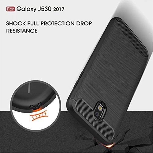 Cover iphone X silicone TPU custodia morbida ultra sottile disegno fibra di carbonio struttura spazzolata telefono custodia Cover Case DECHYI-Rosso 1# Nero