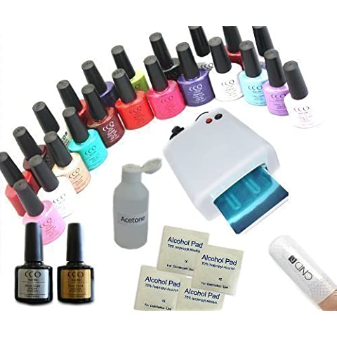 CCO UV NAIL GEL Soak Off Kit with 10 CND