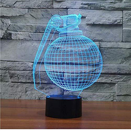 YZWD Illusion Lamp 3D Illusion Nachtlicht 3D Lampe Geschenke Pferd Licht Für Kinder Kugel-Form 3D Geführt Als Schlafzimmer-Dekor Färbt Schreibtisch-Tischlampe