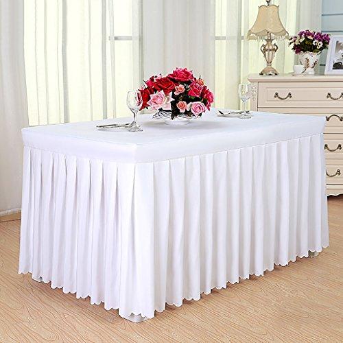 (WENJUN Treffen Tischdecke Tisch Rock Aktivität Ausstellung Tuch Essen Tischdecke Empfang Tisch Rock Cover Tisch Decken (Farbe : Weiß, größe : 120 * 40cm))