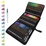 72 Watercolour Pencils Set in Personalized Big Pencil Case Zip-Up Set Easy to