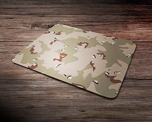 DPM Khaki Desert Camouflage Colours & Patterns Army Rubber Mouse Mat PC Mouse Pad (Desert Khaki)