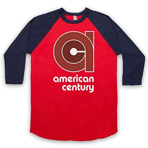 vinyl-american-century-record-label-manga-3-4-camiseta-del-beisbol-rojo-azul-marino-xl