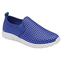 Krishwear Original Womens Ladies Memory Foam Lightweight Slip-On Loafer Shoes - Various Colours and Sizes to Choose (4 UK, Blue)