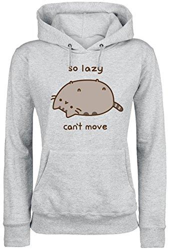 Pusheen So Lazy Can't Move Felpa donna grigio chiaro screziato XL