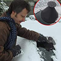 ‏‪Upgrade 2-in-1 Magic Ice Scraper,Windshield Snow Cover Ice Removal Wiper,Magic Funnel Cone Snow Removal Tool for Car SUV Truc‬‏