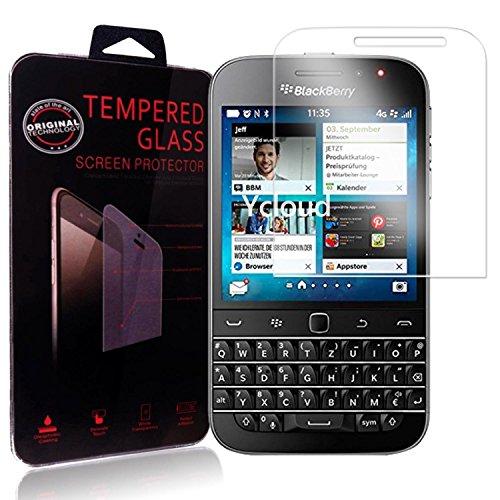 Ycloud Panzerglas Folie Schutzfolie Bildschirmschutzfolie für BlackBerry Classic Screen Protector mit Härtegrad 9H, 0,26mm Ultra-Dünn, Abger&ete Kanten