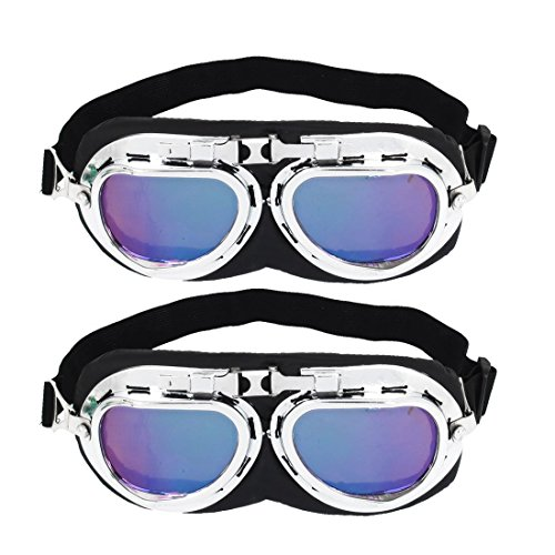 2 Stück Gummiband Lila Objektiv Full Frame Motorradbrille Sonnenbrille