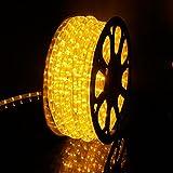 Kefflum LED Lichterschlauch Lichtschlauch Lichterkette Licht Leiste 36LEDs/M Schlauch für Innen und Außen IP65 40M Gelb