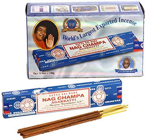 Satya bastoncini di incenso, da 180 g, scatola da 12scatole nag champa