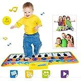 Omiky® Kinder Baby Touch Play Keyboard Musical Gesang Fitnessraum Teppich Matte Spielzeug Geschenk (Mehrfarbig)