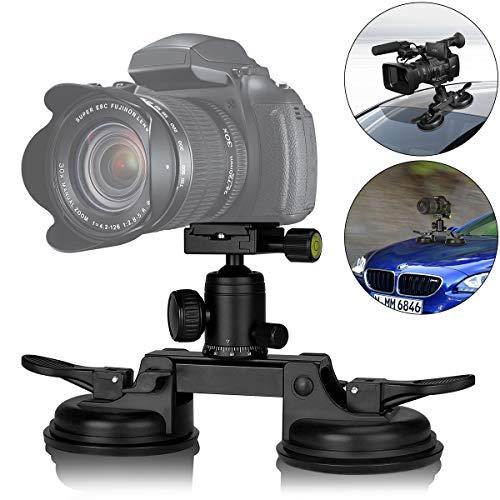 Chimera Support à Ventouse Caméra Reflex, Support Robuste pour Caméra, tête d'échelle panoramique 360°, Compatible avec Nikon, Canon, DSLR, Caméscope, Support à Ventouse Voiture.