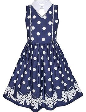 Sunny Fashion Vestido para niña De Halloween Bruja Murciélago Calabaza Disfraz Halter 7-14 años
