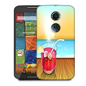 Snoogg Abstract Summer Background Designer Protective Phone Back Case Cover For Moto X 2nd Generation
