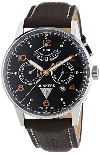 Junkers - 69605 - Montre Homme - Automatique - Analogique - Aiguilles lumineuses - Bracelet Cuir Marron