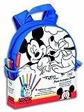 Mickey Mouse - Mochila personalizable con rotuladores, 27 x 25 cm (Montichlevo 30200)