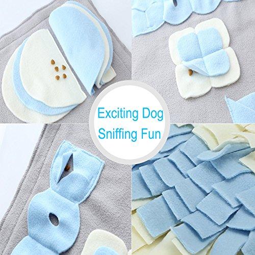 Schnüffelteppich für Hunde, Hund Riechen Trainieren, Geruchsempfindung Trainieren Matte, Schadstofffreies Hundespielzeug Fördert Natürliche Nahrungssuche, Spielen Matte Toy Nase Arbeit für Haustier - 2