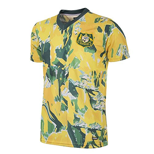 Copa Australien Retro Trikot 1990-93 gelb-grün, M - Australien Trikot