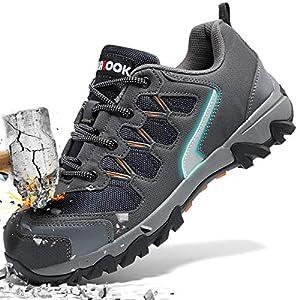 51mZ0eTzZ6L. SS300  - Zapatos de Seguridad para Hombre con Puntera de Acero Zapatillas de Seguridad Trabajo, Calzado de Industrial y Deportiva