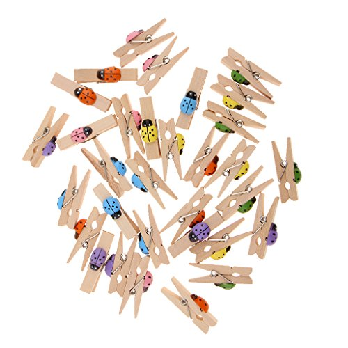 Prettyia Mini Holz Wäscheklammer Foto Handwerk Clips Tiermuster Dekorativer Klammer Holz - 30 Stück Huhn (Basteln Halloween Recycling)