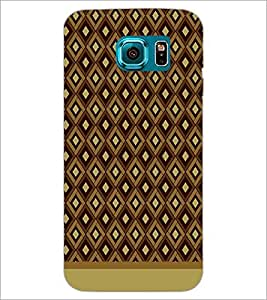 PrintDhaba Pattern D-1591 Back Case Cover for SAMSUNG GALAXY S6 EDGE (Multi-Coloured)