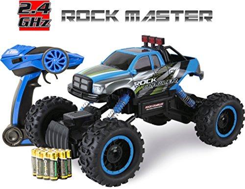 Ferngesteuertes Auto für Kinder - Rock Crawler 4x4 RC Auto - 1/14 Rock Master Rock Crawler mit 2,4GHz Fernsteuerung (Blau)