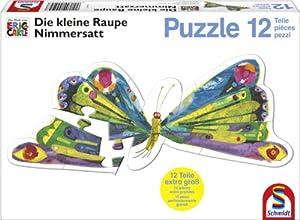 Schmidt Spiele 55504  - The Very Hungry Caterpillar Nimmersattt, Rompecabezas contornos, Mariposa, 12 Partes