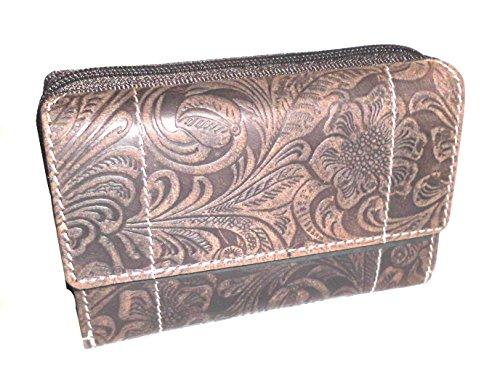 Portemonnaie Damen Wild Leder Geldbeutel in 6 Farben RFID -