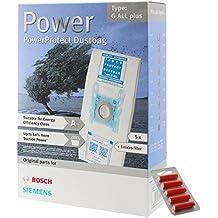 Bosch - Bolsa de microfibra y filtro para aspiradora, (tipo G, paquete de 5+ 5ambientadores)
