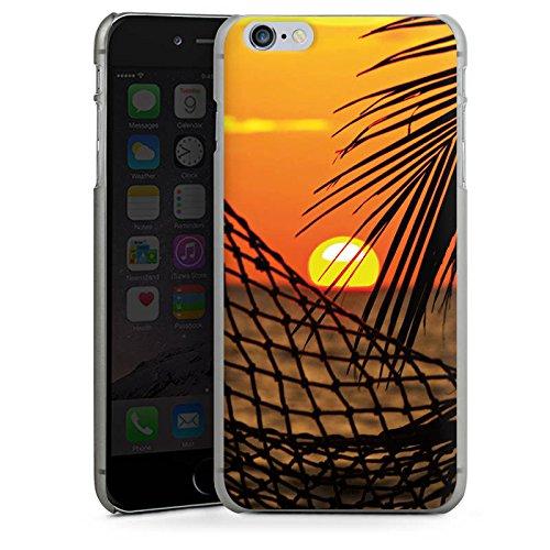 Apple iPhone X Silikon Hülle Case Schutzhülle Sonnenuntergang Strand Hängematte Hard Case anthrazit-klar