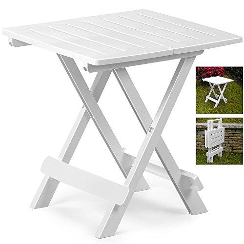 Table en plastique Adige – 45 cm x 43 cm x 50 cm Différents coloris. blanc