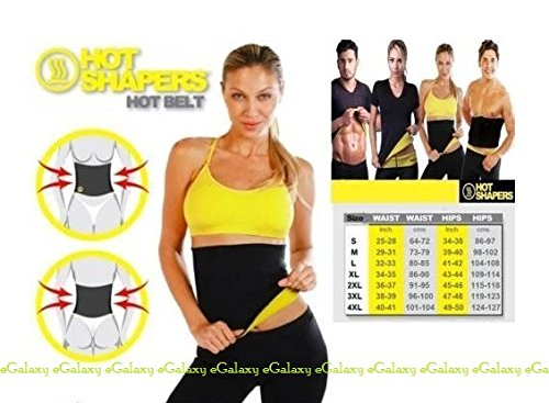 eGalaxy - Hot Shapers Slimming Belt - Size : XXL - Color : Black