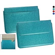 Emartbuy® Asus C100PA Chromebook Flip 10.1 Pulgada Turquesa Manga Cubierta Superior PU Cuero Caja Carpeta Caso Folio Encierro Magnético Aleta