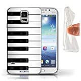 Coque Gel TPU de Stuff4 / Coque pour Samsung Galaxy S5/SV / Piano Design / Clés/Boutons Collection