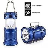 SaleOn Lantern LED Solar Emergency Light Bulb With Mobile Charging Facility-023(Blue)