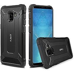 Galaxy A8 2018 Funda, J&D [Armadura Delgada] [Doble Capa] [Protección Pesada] Híbrida Resistente Funda Protectora y Robusta para Samsung Galaxy A8 (Release in 2018) - Negro