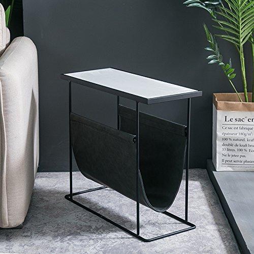 ZEXIKUN Sofa Side Square Einfache Moderne Kreative Ecke EIN Paar Beistelltisch Marmor Mini Couchtisch,F