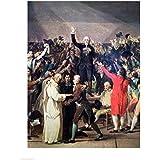 Jacques-Louis David – El juramento del campo de tenis Artistica di Stampa (45,72 x 60,96 cm)