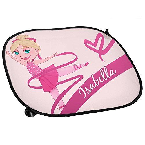 Preisvergleich Produktbild Auto-Sonnenschutz mit Namen Isabella und schönem Motiv mit Tänzerin für Mädchen | Auto-Blendschutz | Sonnenblende | Sichtschutz