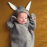 nouveau-né Wrap Sac de couchage Nid d'ange bébé Tricot Sac de couchage Wrap, Sac...