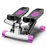 STEXH Stepper mit Power Ropes Schritt Maschine Gewichtsverlust Maschine in situ Bergsteigen Pedal Maschine Slim Legs Multifunktions Pink