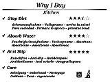 BSM 2000 Küchenteppich – Küchenläufer 150 x 50 cm, Verschiedene Motive, 30°C Waschbar, rutschfest, Kitchen Black Gerolt - 2